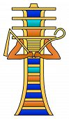 pic of god  - Djed pillar with crook and flail - JPG