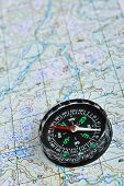 foto of compasses  - Map and compass - JPG
