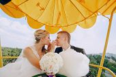 foto of ceremonial clothing  - beautiful wedding ceremony outdoors in the woods - JPG