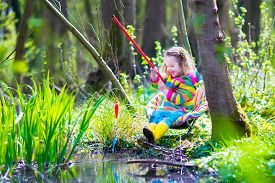 foto of baby frog  - Child playing outdoors - JPG