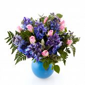 Bouquet In Blue And Pink