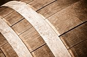 Oak Wine Barrel Close Up