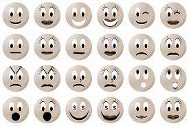 picture of angry smiley  - Yellow male and female smiley set or collection - JPG
