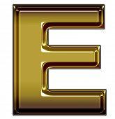 gold upper case E