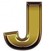 gold upper case J