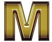 gold upper case M