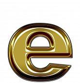 lower case E