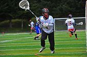 Lacrosse goalie on the move