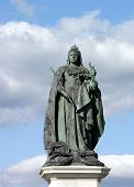 image of sceptre  - statue of queen victoria again sky background - JPG