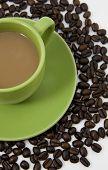 Coffee On Coffee Beans