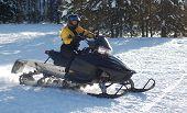 Girl Snowmobiling