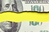 Torn Dollars Banknote