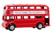 Toy Red Double Decker Bus  poster