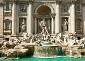 Trevi Fountain - famous landmark in Rome (Italy)
