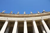 Famous colonnade of St. Peter's Basilica,Rome