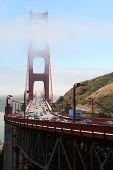 Golden Gate Bridge with traffic