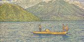 INDONESIA - CIRCA 2000: Fishing Boat on 1000 Rupiah 2000 Banknote from Indonesia.