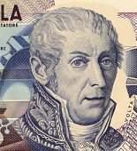 ITALY - CIRCA 1984: Alessandro Volta (1745-1827) on 10000 Lire 1984 Banknote from Italy. Italian physicist best known for the development of the first electric cell in 1800.