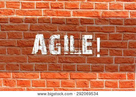 Writing Note Showing Agile Business