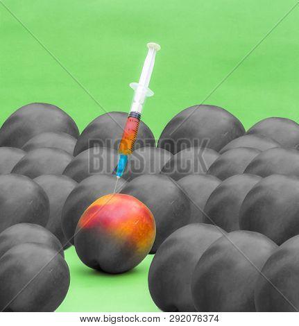 Nectarine Peach Genetic Color Manipulation