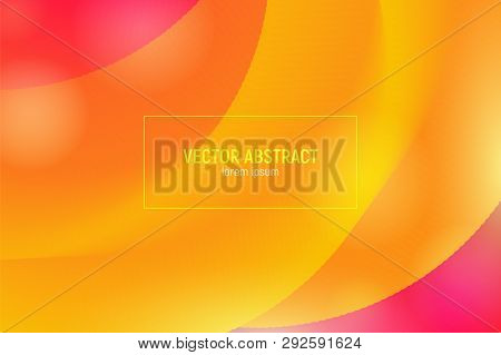 poster of Abstract 3d Blend Background. Modern Colorful Liquid. Abstract Wave Cover With Vibrant Gradient. Abs