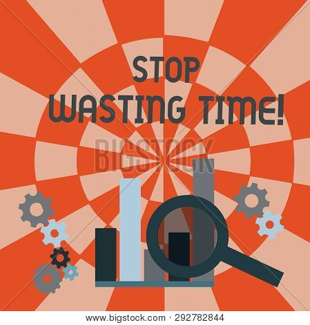 Text Sign Showing Stop Wasting