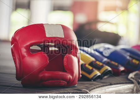 Boxing Leather Mitt Glove And