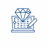 Code Development Line Icon Concept. Code Development Flat  Vector Symbol, Sign, Outline Illustration poster