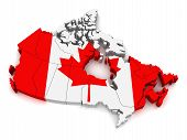 3D Map of Canada