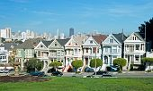 Alamo Square In San Francisco With Victorian Houses