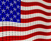 USA Flag Jewelry Background Design
