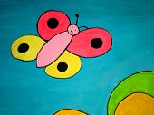 Butterfly  Childrens Painting poster