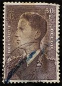 Belgium - Circa 1952: A Stamp Printed In Belgium Shows Baudouin I King Of The Belgians (1930-1993)