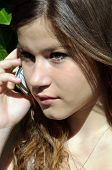 Teenage girl with smart phone