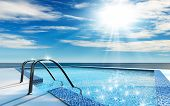 picture of swimming  - Luxury home swimming pool near the sea - JPG