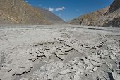 stock photo of kali  - Kali Gandaki river valleyview towards Upper Mustang