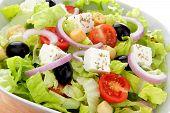 mediterranean salad whit feta end tomato