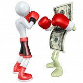 Boxeador contra dinero