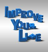 3D Text Inspiration Message Improve Your Life