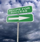 Street Road Sign Recipe For Success