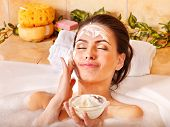 stock photo of home remedy  - Natural homemade  facial masks at home  - JPG