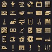 Homework Appliance Icons Set. Simple Style Of 36 Homework Appliance Icons For Web For Any Design poster