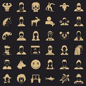 Privacy Icons Set. Simple Style Of 36 Privacy Icons For Web For Any Design poster