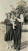 Vintage Family Photo 1920