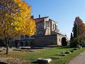 picture of tatas  - A photo of Castle of Tata in autumn mext to the  - JPG