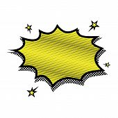 Explosion Steam Bubble Pop-art Vector - Funny Funky Banner Comics Background. This Also Represents A poster