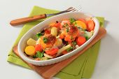 picture of grated radish  - Baked vegetables with herbs and cheese - JPG