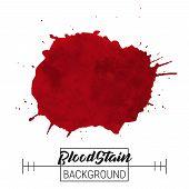 Blood Splatter Blotch Vector. Blood Splatter Blotch And Drops Vector On White Background For Text, S poster