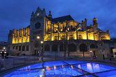 View Of The Saint Eustache Church, Paris, Ile-de-france, France poster