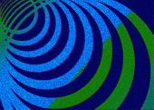 Green-blue Circles On A Blue Background - The Effect Of Impressionism. Abstract Background. poster